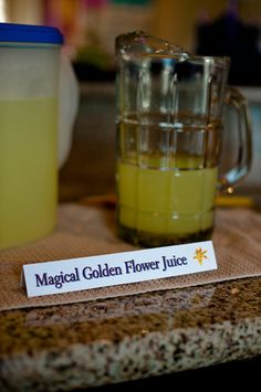 Rapunzel Birthday Party - Magic Golden Flower Juice