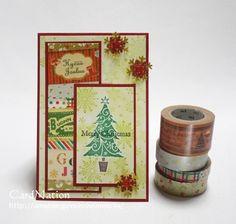 スタンプとマスキングテープでクリスマスカード by:CardNation #スタンプ
