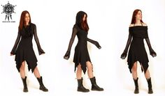 Mesh cowl neck dress. Post Apocalyctic. by AbstractikaCrafts