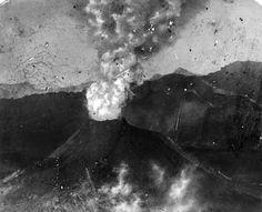 Erupción del volcán de Colima. ca 1920.
