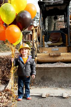 """In October, I asked Ethan what kind of birthday party he'd like this year. """"A digger party with a bulldozer cake"""" was his quick reply. I wasn't surprised, the kid can't stop talking about diggers, graders, back-hoes, bulldozers, and cranes, it only made sense that he'd want them incorporated in his third birthday celebration. So …"""