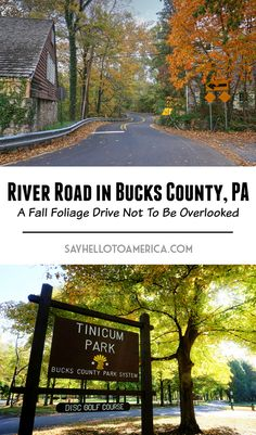 River Road in Bucks County, PA is a scenic drive that any fall foliage enthusias. River Road in Bucks County, PA is a scenic drive that any fall foliage enthusiast should add to their bucket list. Here is a list of some of the best . Vacation Trips, Vacation Spots, Day Trips, Weekend Trips, Weekend Getaways, Vacations, Beautiful Places To Visit, Cool Places To Visit, Places To Travel