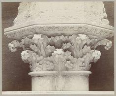 A. Giraudon | Kapiteel met bladmotief, kathedraal van Chartres, A. Giraudon, 1860 - 1880 |