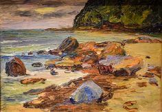Wassily Kandinsky - Sestri on the Beach, 1905 at Princeton Art Museum Princeton NJ Pastel Landscape, Landscape Paintings, Catalogue Raisonne, Aesthetic Experience, Wassily Kandinsky Paintings, Abstract Words, Beach Art, Art Museum, Canvas Art