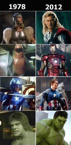Super heros have gotten so much better looking #geekweek
