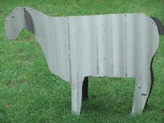 Colorbond Corrugated Iron Sheep Lawn Ornament  Custom Made + To Order. Like It but would rather another animal instead?-Message me your request!!! Ship cost on asking.  $110.00