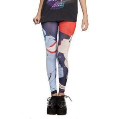Little Mermaid Leggings These Little Mermaid leggings were purchased online from Hot Topic but we're not big enough for me. They are a size Medium and are quite stretchy so they can fit a size 2-4. I'm usually a size 6 and the part that wraps around the hips stretches too much for me. NWOT. Material: Polyester & Spandex Hot Topic Pants Leggings