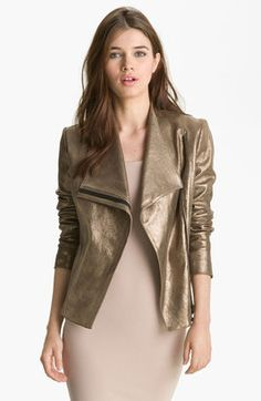 ShopStyle: Robert Rodriguez Metallic Leather Jacket