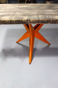 Modern Dining Table Mid Century Modern Reclaimed Wood by DendroCo