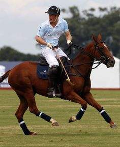 Prince Harry playing polo- gotta love a man who knows his horses!