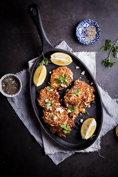 Cauliflower & Feta Cheese Fritters | Simply Delicious