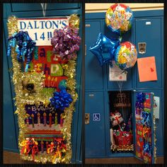 Birthday Locker. Birthday Locker Decoration. Locker Decor. All From Dollar  Store Including Cut