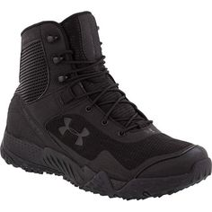 Men's Under Armour® Valsetz Tactical RTS Tactical Boots, Black. These are way more comfortable than my Danners. Tactical Clothing, Tactical Gear, Tactical Shoes, Under Armour Shoes, Under Armour Men, Outdoor Outfit, Outdoor Gear, Duty Boots, Tac Gear