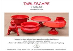 Tablescape by Garima Jain decorative tableware and sculptures