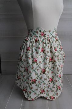 Vintage Style Hostess Apron Chintz Shabby Chic Floral by theloftonbroome on Etsy