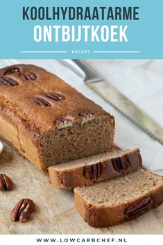 Koolhydraatarme ontbijtkoek New on our site: a recipe for low-carb gingerbread. Healthy Sweets, Healthy Dessert Recipes, Super Healthy Recipes, Healthy Baking, Low Carb Vegetarian Recipes, Low Carb Recipes, Best Low Carb Bread, Happy Foods, Easy Snacks