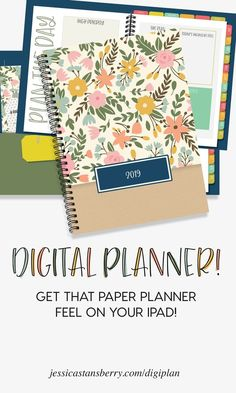 Digital Planner for iPad with Goodnotes app. By Jessica Stansberry | Take your planner and to-do lists on the go with this amazing iPad Goodnotes planner to help you get organized this year! #planner #digitalplanner #organize #organization #organizing #planning