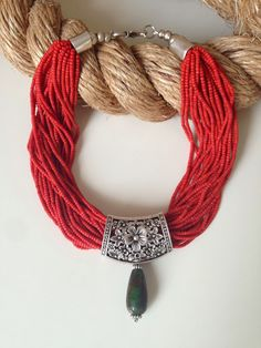 İletişim: aksesuarelle@gmail.com Bohem Stili Mercan Afgan Boncuğu,Metal, Kuvars Taşı Detaylı Kolye - El Yapımı Takı Tasarım / Bohemian Style Coral Afgan Neclace with Quartz Detail - Handmade Jewelry Design