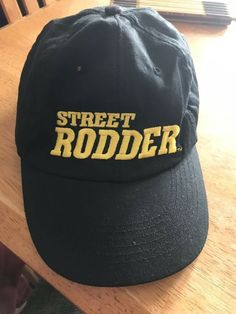 14fda55388516 STREET RODDER Mens Black Hot Rod Car Magazine Baseball Hat Cap Never Worn  Vented  fashion  clothing  shoes  accessories  mensaccessories  hats (ebay  link)