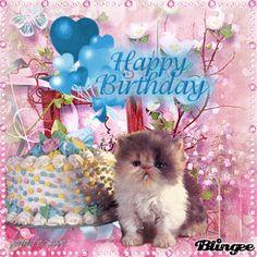 happy birthday kittens gif www pixshark images Happy Birthday Kitten, Cat Birthday, Happy Birthday Wishes, It's Your Birthday, Kitten Cake, Kitten Gif, Birthday Pictures, Birthday Images, Birthday Greeting Cards