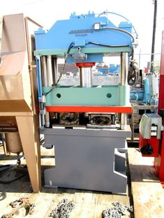 HANNIFIN DYNAQUIP 50 TON 4 POST HYDRAULIC PRESS WITH POWER PACK REF#OC1047 #HANNIFINDYNAQUIP