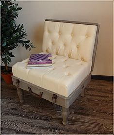 Sitzbank ShabbyChic, Stuhl KOFFER im Shabby Chic, Furniture, Design Design, Banquette Bench, Chair, Suitcase, Design Comics