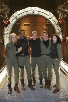Picture immediately after filming the final episode of Stargate SG1