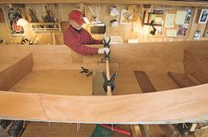The Flathead Lake freight canoe is easy to build and will haul piles of gear or a couple of passengers. Wooden Boat Building, Boat Building Plans, Timber Planks, Flathead Lake, Wood Boat Plans, Trolling Motor, Build Your Own Boat, Marine Boat, Wooden Boats