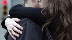 "Darlene (Carly Chaikin) hugs Elliot (Rami Malek) in season 2, episode 9 of Mr. Robot, ""eps2.7_init_5.fve."""