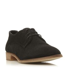 DUNE LADIES FARIS - Suede Textured Oxford Shoe - black | Dune Shoes Online