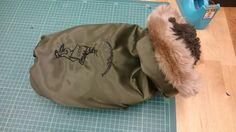 清野さん作、ミリタリージャケット。今年はミリタリー系が人気。冬よ早く来い!