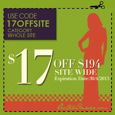 Get $17 OFF your order of $194+ of any dresses etc from Outerinner! Shop here now: http://www.outerinner.com/ #Dresses #OuterInner