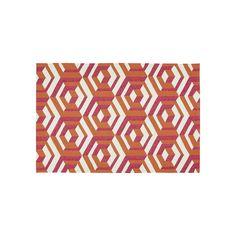 Kaleen Escape 3-D Geometric Indoor Outdoor Rug, Pink, Durable #IndoorRugs