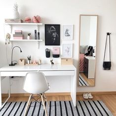 home decor ikea Get Organized With These Home Office Ideas Dream Home Office Looks to Get You Organized - Small Home Office, Home Office Decor, Desk Decor Home Office Design, Home Office Decor, Home Office Bedroom, Home Desk, Bedroom Workspace, Bedroom Inspo, Office Decorations, Ikea Workspace, Cozy Home Office