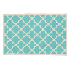 For the rug I'd suggest our Magic Carpet Rug. The punch of aqua will be gorgeous with the bed. And the classic pattern will be lovely in the 1920s home. I'd suggest getting as large a size as can fit in the space. I love this rug in 8 x 10', as the pattern scales up bigger as the size of rug gets bigger.