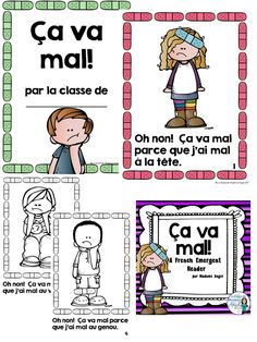 "Have fun learning about ""les parties du corps"" with this fun emergent reader in French!  Focusing on the parts of the body, students will practice using the expression ""J'ai mal ...""  This package includes a class book and full colour, as well as black and white versions."