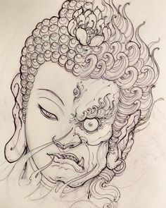 "5,688 lượt thích, 53 bình luận - David Hoang (@davidhoangtattoo) trên Instagram: ""Buddha Fudo sketch for Filler. #chronicink #asiantattoo #asianink #irezumi #tattoo #sketch…"""