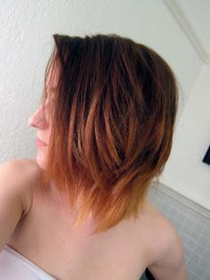 DIY short ombre hair-want this color so bad!