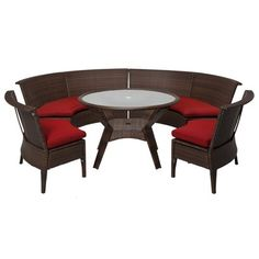 Threshold™ Rolston 5-Piece Wicker Sectional Patio Dining Furniture Set Target.com