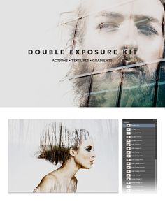 Double Exposure Kit by SparkleStock #filter #designtool #doubleexposure