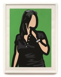 Tourist with watch by Julian Opie