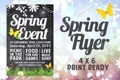 Chalk Spring Flyer by Lucion Creative on @creativemarket