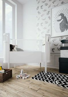 Elegant mix of black and white | 10 Monochrome Kids Rooms - Tinyme Blog