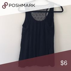 64634a8ecaccee Blank tank top Simple black tank top with lace detailing in the back! Never  worn