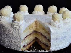 Tort Raffaello cu zmeura - imagine 1 mare