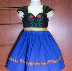 Disney Frozen Anna Inspired Practical Princess Dress by greensies, $55.00