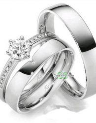 Cincin Kawin Emas Putih 75 Palladium 50 Cincin Kawin Muslim Cincin Perkawinan Emas Putih Cincin Kawin