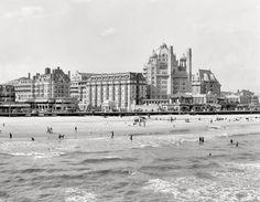"Atlantic City circa 1910. ""A group of big hotels -- Dennis and Marlborough-Blenheim."" 8x10 glass negative, Detroit Publishing Company."
