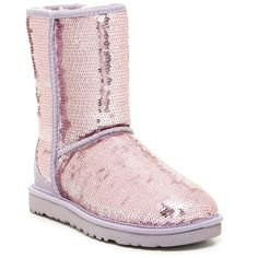 UGG Australia Classic Short Sparkle Boot ($130) ❤ liked on Polyvore featuring shoes, boots, ankle booties, ankle boots, hllc, sequin boots, ugg australia boots, bootie boots, lined ankle boots and sequin booties