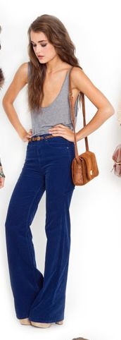 cute flare-jeans look. Great for tall people... or short people in 6 inch heels.